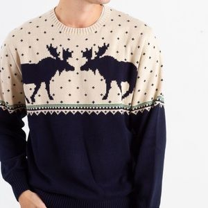 Weatherproof Vintage Boyfriend Moose Sweater
